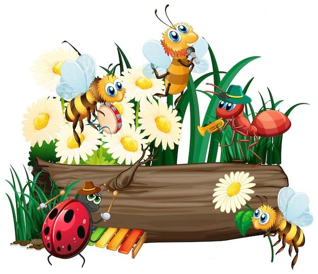 Insect in de natuur op een witte achtergrond