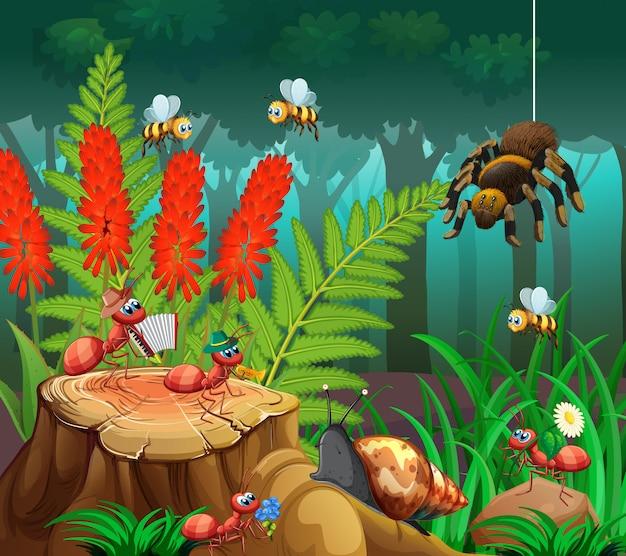 Insect op de natuur achtergrond