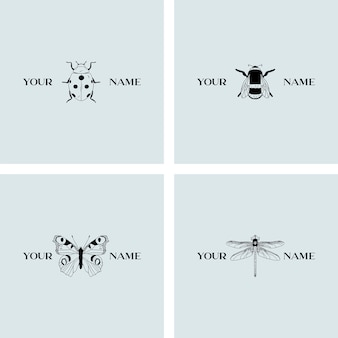 Insecten logo sjablonen