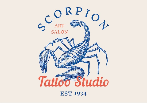 Insectlogo voor bar of tattoo-studio