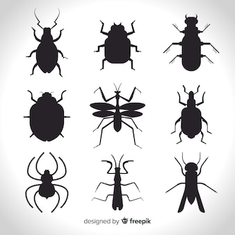 Insects silhouet pack