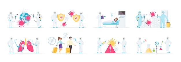 Inspanningen om de pandemie van het coronavirus te bestrijden.
