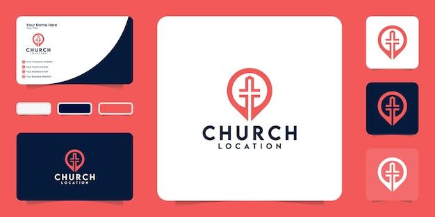 Inspiratie logo voor kerklocatie en inspiratie voor visitekaartjes