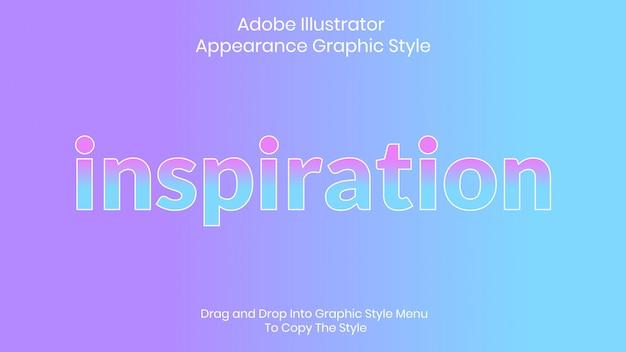 Inspiratie stijlsjabloon tekststijl
