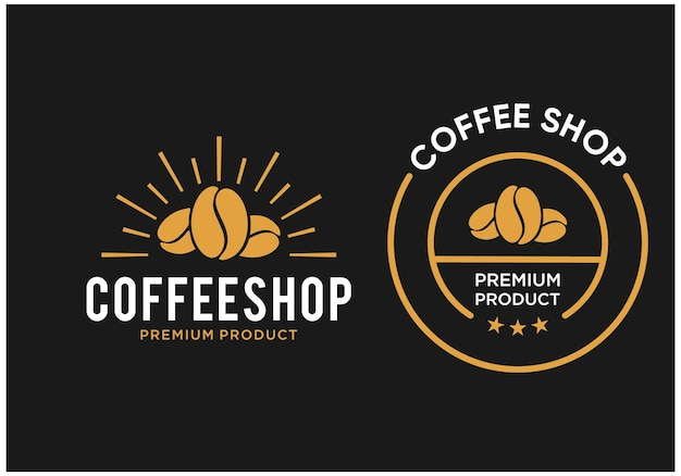Inspiratie vintage koffie embleem logo