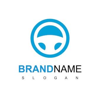 Inspiratie voor logo-ontwerp met stuurwielaandrijving