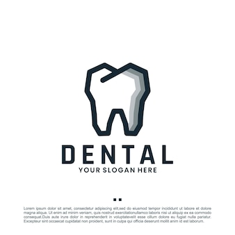 Inspiratie voor tandheelkunde, zorg, logo-ontwerp