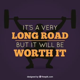 Inspirational citaat van hard werken