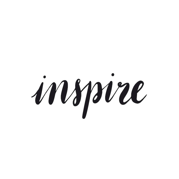 Inspireer de typevector van de woordtypografie