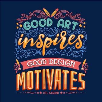 Inspireer en motiveer beroemde ontwerpbelettering