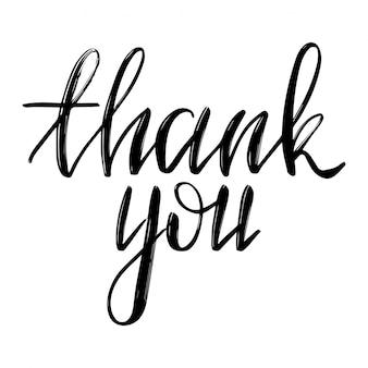 Inspirerend citaat, handlettering citaat 'bedankt'.