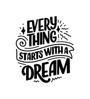 Inspirerend citaat over droom.