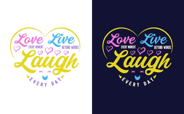 Inspirerend en motiverend citaat over liefde typografie ontwerp voor sticker tshirt mok print