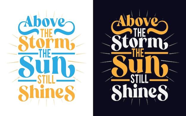 Inspirerend en motiverend hoopcitaat typografieontwerp voor sticker cadeaukaart t-shirt mok