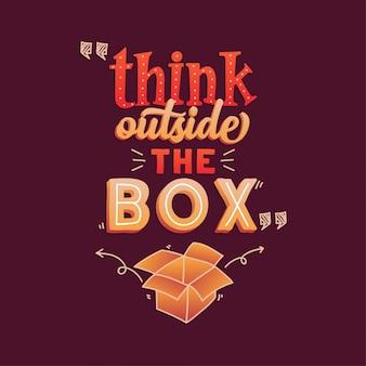 Inspirerend - motiverende typografie citeert ontwerp