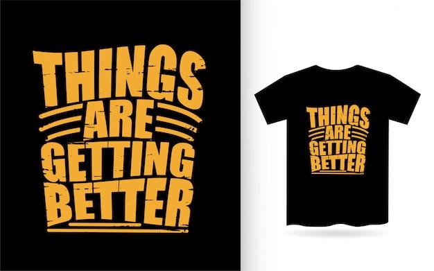 Inspirerend typografiecitaat voor t-shirtdruk
