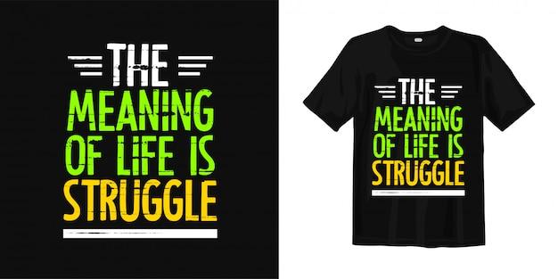 Inspirerend woorden t-shirtontwerp