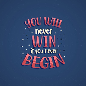 Inspirerende motivatie quotes poster design