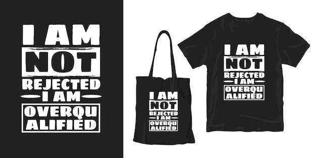 Inspirerende woorden typografie poster t-shirt merchandising ontwerp