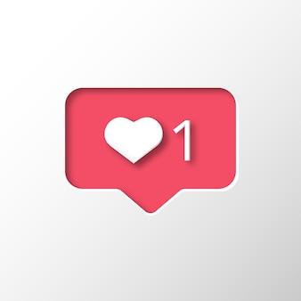 Instagram-achtige melding