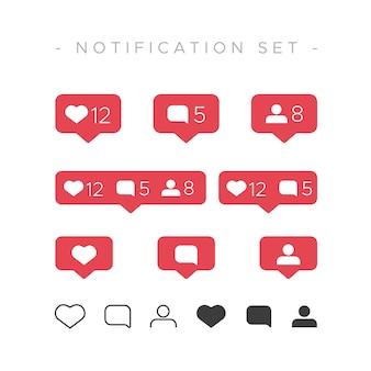 Instagram-achtige meldingenset