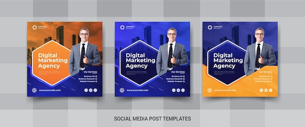Instagram-banner voor digitaal marketingbureau
