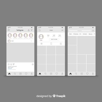 Instagram-bericht en profielsjabloon