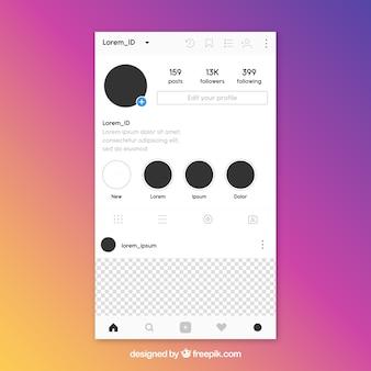 Instagram-bericht met transparante achtergrond