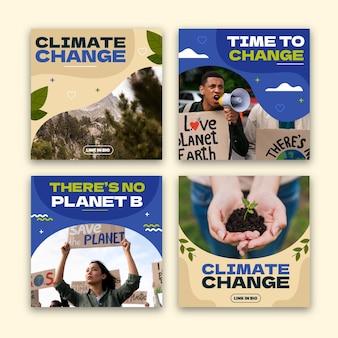 Instagram-berichten over klimaatverandering
