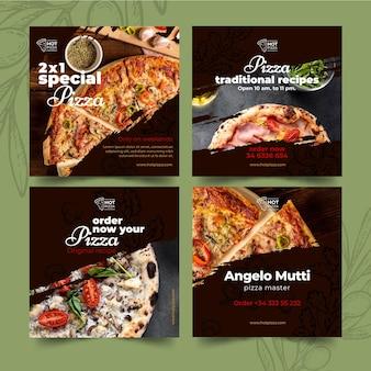 Instagram-berichten van pizzarestaurants