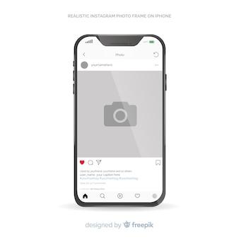 Instagram berichtsjabloon op de iphone