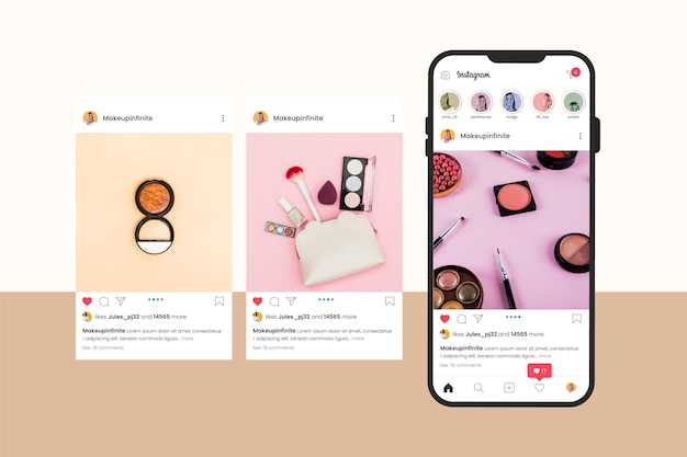 Instagram carrousel-interface