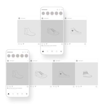 Instagram carrousel-interface