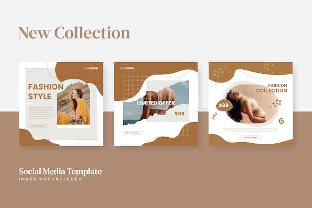 Instagram fashion sale social media template promotie