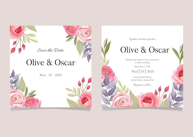 Instagram feed bruiloft uitnodigingskaart
