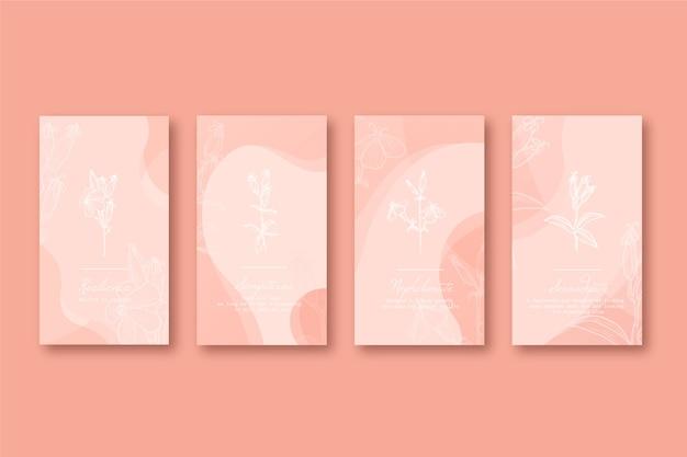Instagram hand getrokken bloemenverhalen hoogtepunten