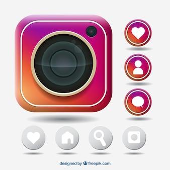 Instagram icoon collectie