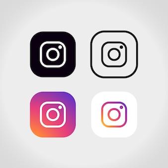 Instagram logo collectie Gratis Vector