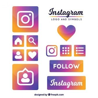 Instagram logo en symbolen