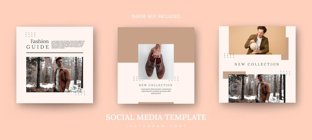 Instagram post banner minimalistische mode sjabloon