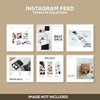 Instagram-post moderne schone sjablooncollectie