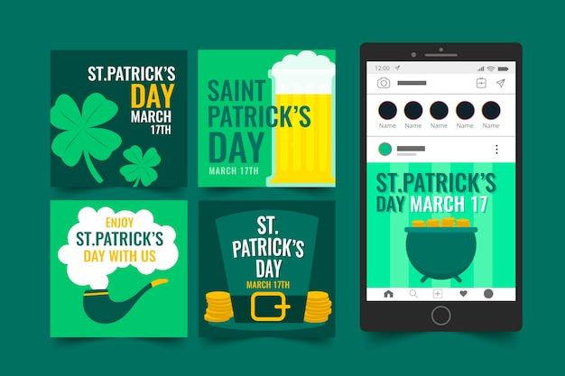Instagram-postcollectie voor saint patrick's day