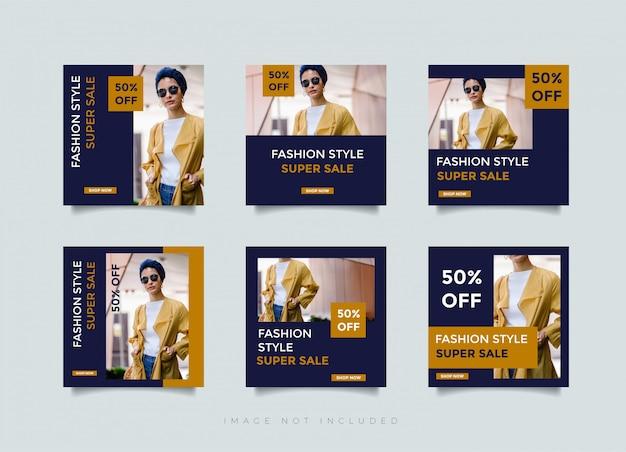Instagram postontwerp of vierkante bannersjabloon voor mode winkel