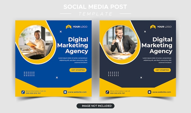 Instagram-postsjabloon voor digitaal zakelijk marketingbureau