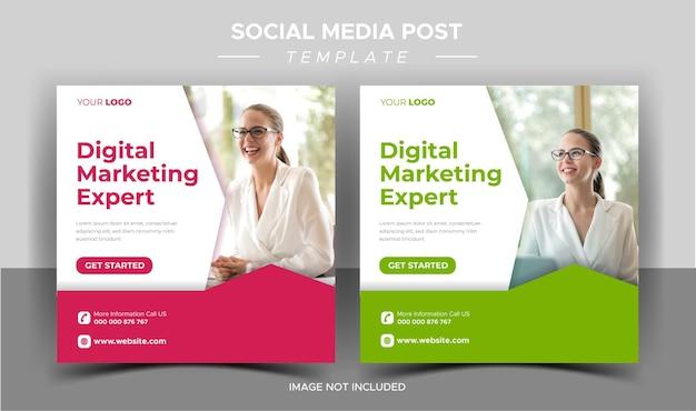 Instagram-postsjabloon voor digitale bedrijfsmarketingexperts