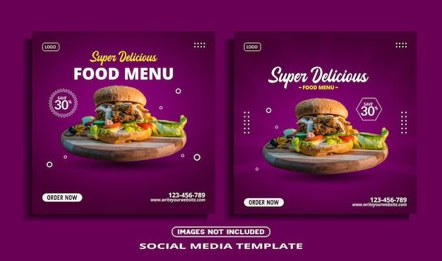 Instagram postsjabloon voor eten