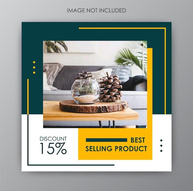 Instagram-postverzameling voor meubeldesign