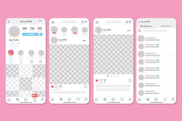 Instagram profiel interface sjabloon thema