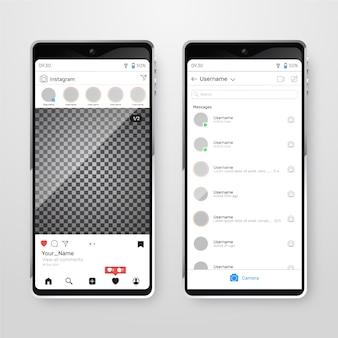 Instagram profiel interface sjabloon