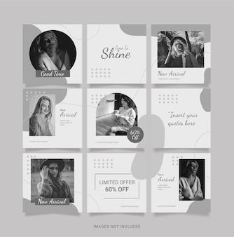 Instagram-sjabloon fashion women puzzle feed